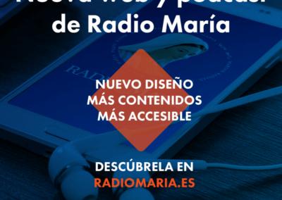 Nueva web de Radio María