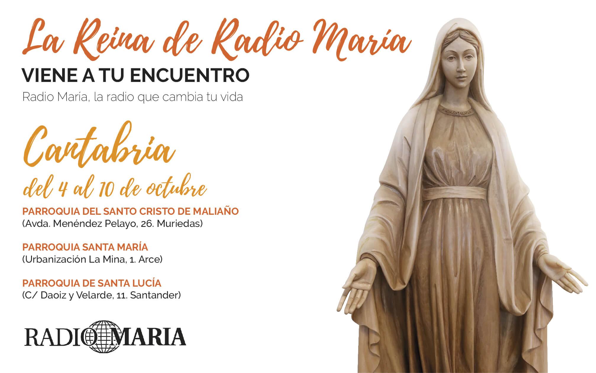 La Reina de Radio María en Cantabria