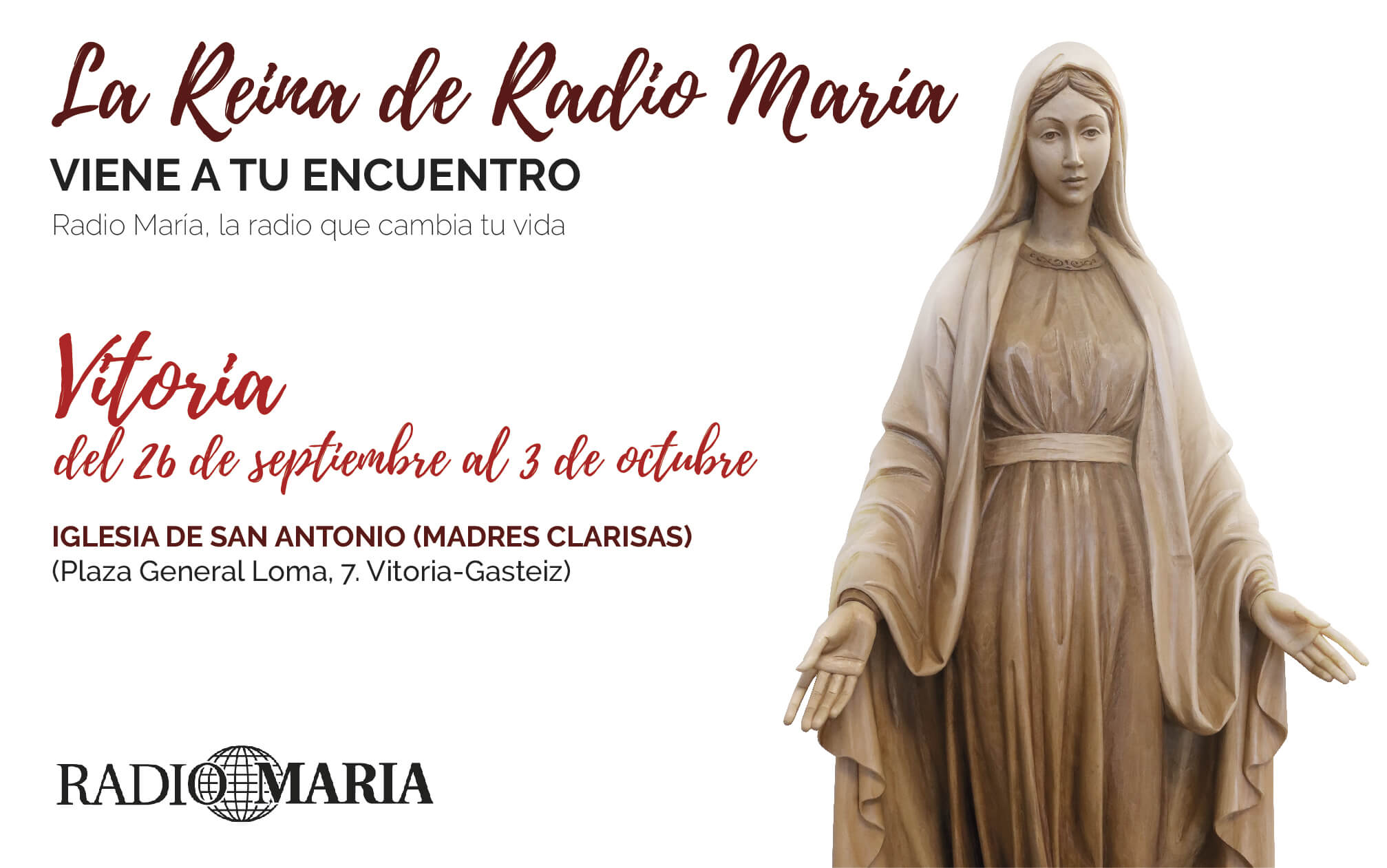 La Reina de Radio María en Vitoria