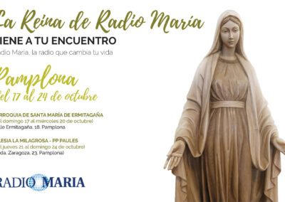 La Reina de Radio María visita Pamplona