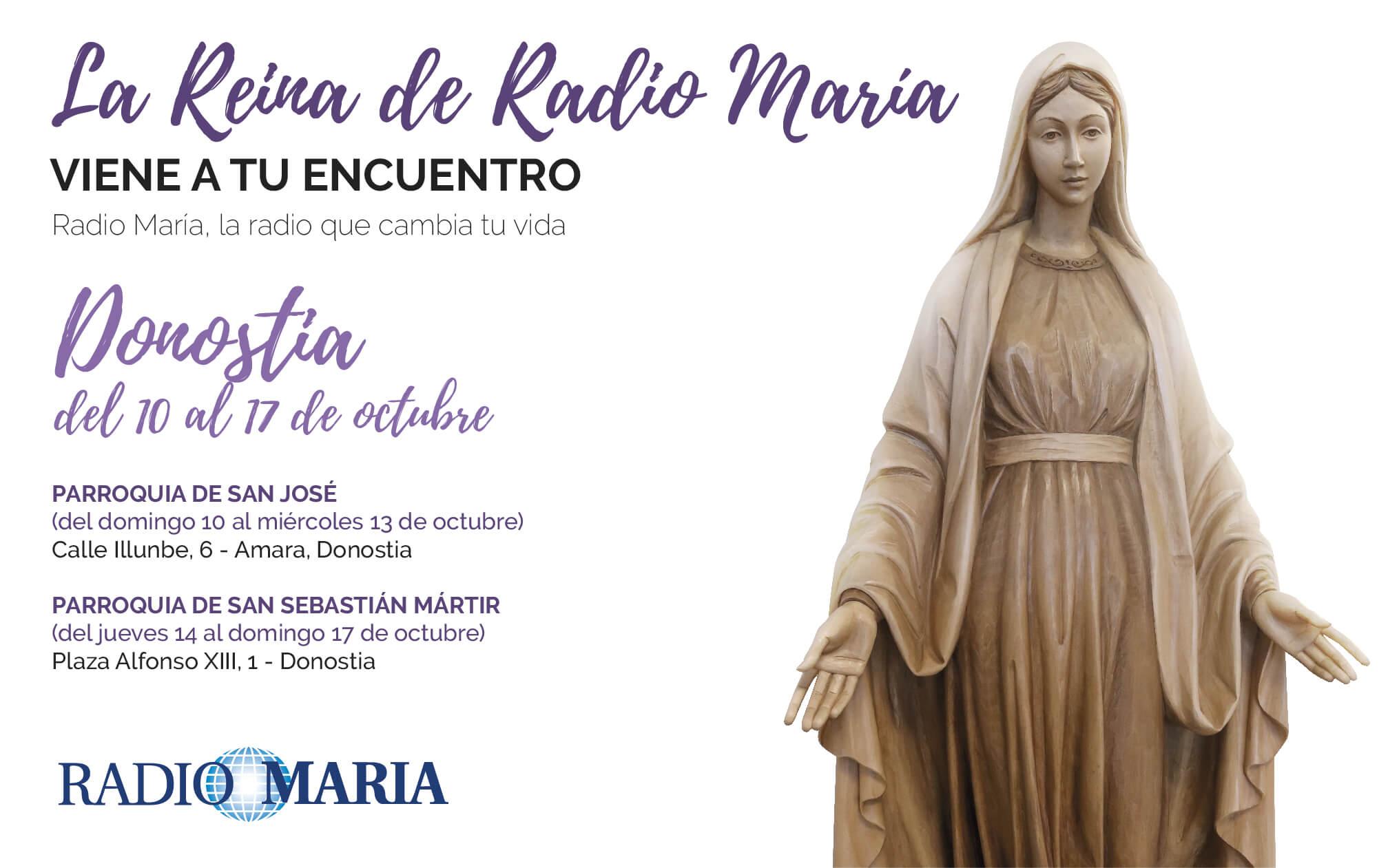 La Reina de Radio María visita San Sebastián